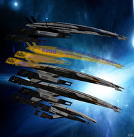 Models of Normandy SR1, SR2 Cerberus. SR2 Alliance by Melllin