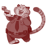 Officer Benjamin Clawhauser, with a donut ring! by RwoRomeo