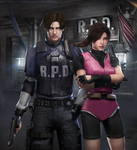 Leon x Claire - RE2 HD REMAKE by DemonLeon3D