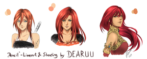 red red red | Lines by DEARUU | colored by PurpleR-les
