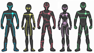 Cyber Ranger Suits by Neph001