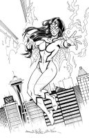 Spider-Woman with Wiacek by mechangel2002
