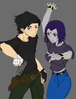 Reload and Raven Colored by Anime-Apothecary