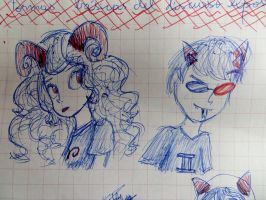 Aradia and Sollux by SuperRainbowGirl