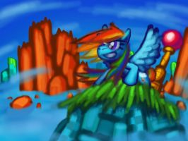 Rainbow Dash 2 - Hilltop Zone Act 1 by Cazra