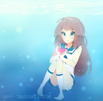 Nagi no Asukara - Manaka / Fan Art /Fast Drawing by Happy-Tan