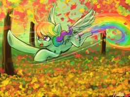 Falling of the leaves (30minutechallenge) by luminaura