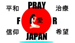 Pray for Japan by Kurssaxx