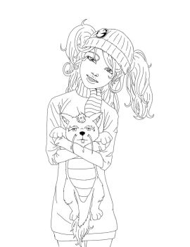 Snow Girl Outline by caseycrown