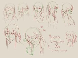Alicia expressions by ElleranS