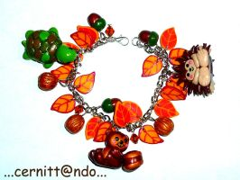 Fimo Autumn bracelet by cernittando