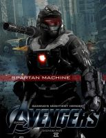 Video Game Avengers Spartan Machine Fan Art 2.0 by rs2studios