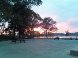 Sunset At Riverside Park by HinataFox790