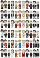 Chibi Eleven Doctors UPDATED by DementedProductions