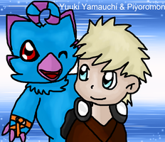 Best Partners - Yuuki Yamauchi and Piyoromon by Phewmonster