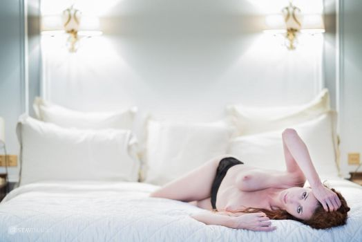 Maroussia on the bed by GustavBAD