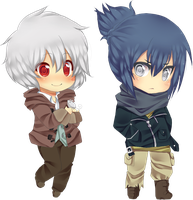Shion and Nezumi chibi by Love-The-Nekos