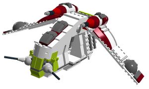 Lego Star Wars Video Game - Republic Gunship. by Cryptdidical