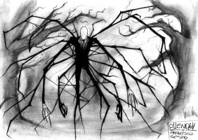 Slenderman. by PaperSaurus