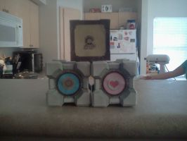 Aperture Science Weighted Cubes by Superjay14