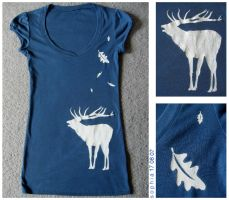 Deer t shirt by spiderdijon