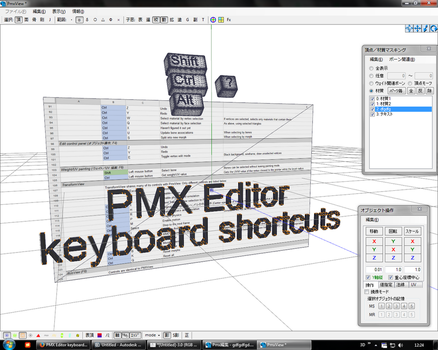 PMX Editor keyboard shortcuts by Wampa842