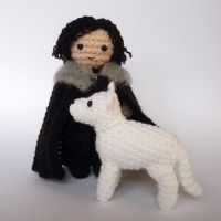 Jon Snow and Ghost by LunasCrafts