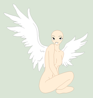 Traced Base - Sitting Angel by Shadow-Bases