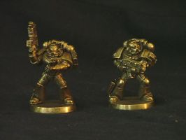 Bronze Spacemarines by Marcusstratus