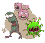 Bacteria group by Ypslon