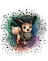 A different Eevee by BluHiroo