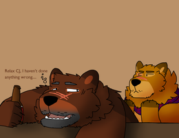 Ask le drunk bear and his son by Wolfiedrawsrandom