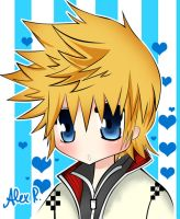.:Roxas:. Kingdom Hearts by WorldlyStar