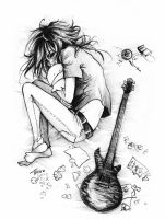 Uruha_In deep depression by KaZe-pOn