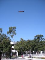 Goodyear Blimp over USC Campus by rlkitterman