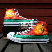 Brand New Hand Painted Converse Canvas Shoes by elleflynn