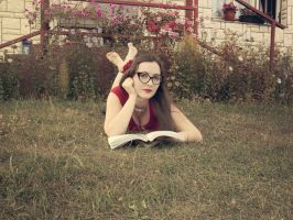 Reading in nature by DraganaGUGI