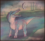 ancient river dragon by Paleona