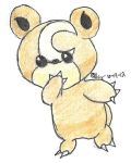 teddiursa drawing (pokemon colored) by n3v3rSAYn3v3r