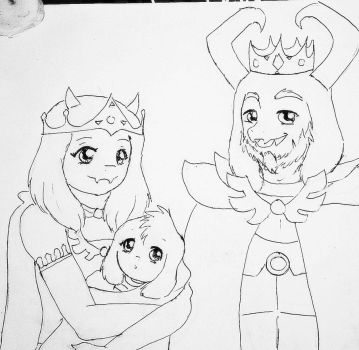 Family Dreemurr - Prince Asriel's birth by YumeVHM