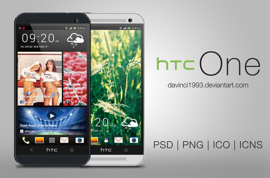 HTC One: PSD   PNG   ICO   ICNS by davinci1993