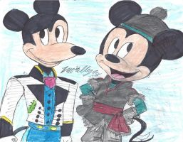 Frozen crossover: Mortimer and Mickey Mouse by brookellyn