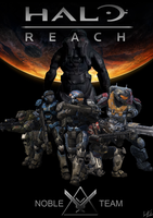 Halo Reach Noble Team Poster by CypherX667