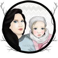 Portrait: Jill and Mia by nezzysaur