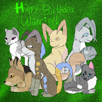 Happy Birthday, Warrior! by graystriperules8