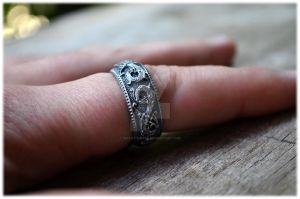 Norse Ringerike Dragon Viking Ring by WearTheRare
