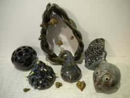 Pottery Sculptures Set 1 by sitres