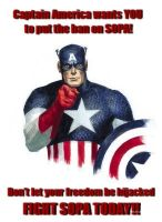 Captain America wants YOU to fight SOPA!! by AnimeJason2010