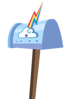 Rainbow Dash's Mailbox by Coolez