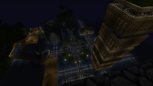 Hydrosis city at night by aqua797